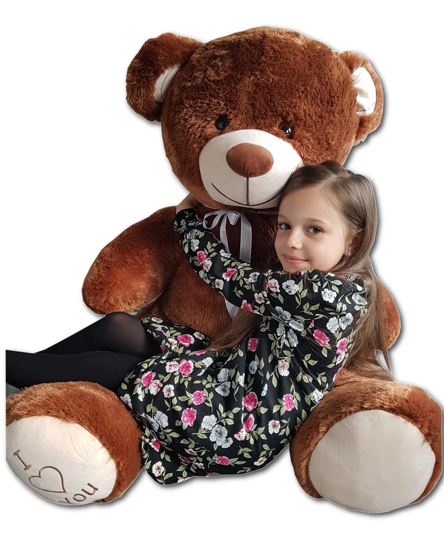 Teddybär Plüschbär Kuscheltier Stofftier Schmusebär Riesen Geschenkidee 160cm braun