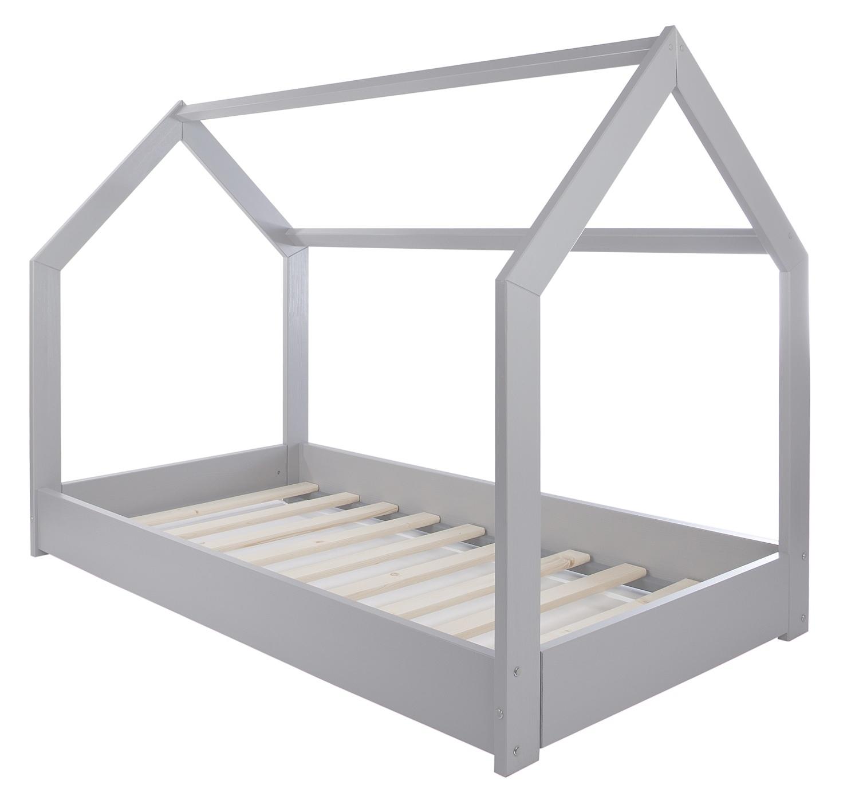 lit maison 2 en 1 chambre d enfant construction cabane bois naturel 160x80 cm ebay. Black Bedroom Furniture Sets. Home Design Ideas