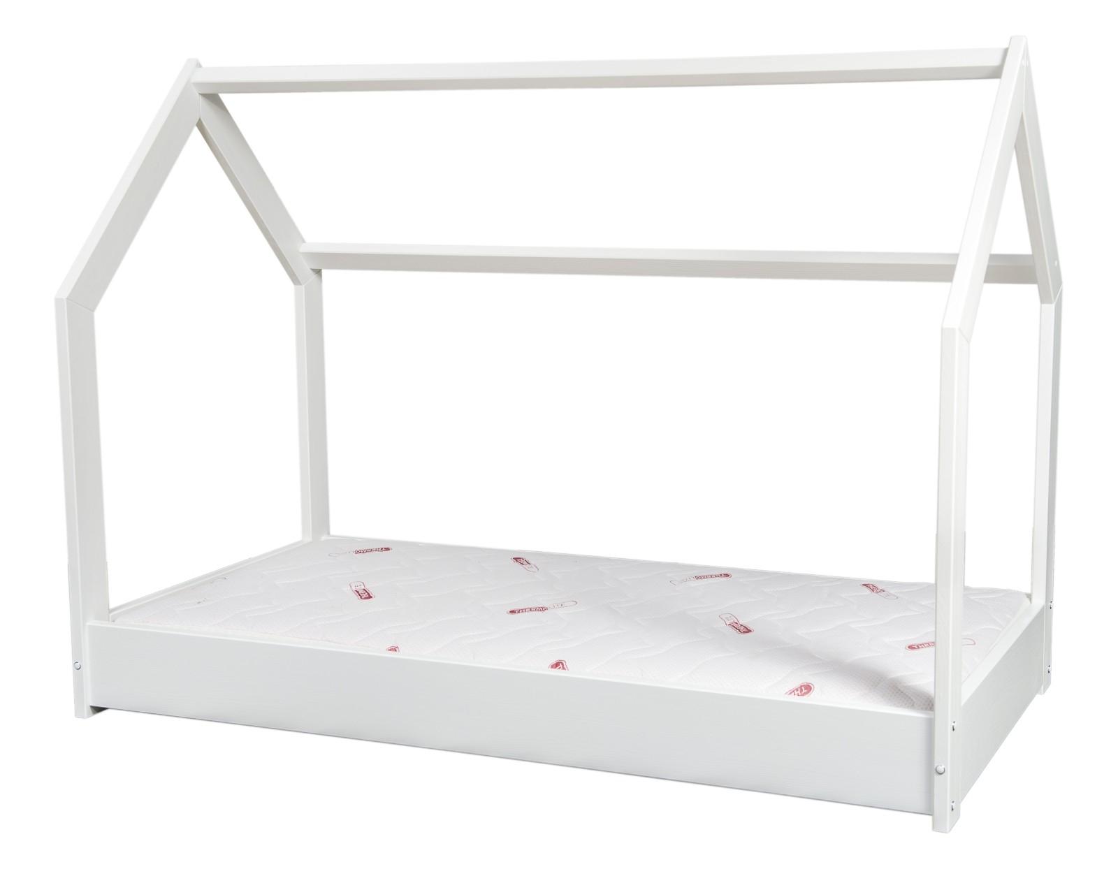 Kinderbett Mit Matratze Premium Hausbett Einzelbett Skandinavisches